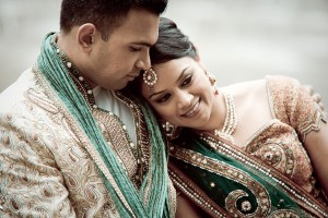 Indian bride and groom, pictures of happy couple