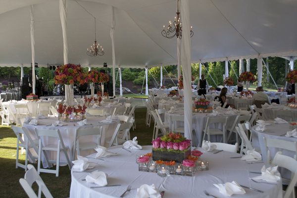 outdoor wedding, reception tent