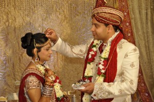 Indian bride and groom, Indian wedding rituals